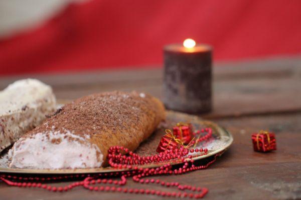 красивая фотография бисквитного рулета