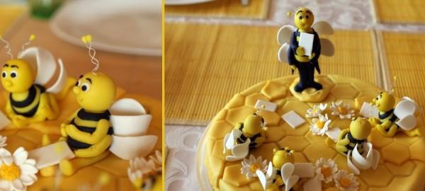 Пчелки для медовика как сделать
