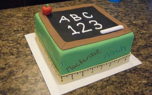 торт в виде классной доски