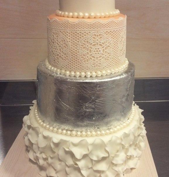 Как сделать торт серебряный 979