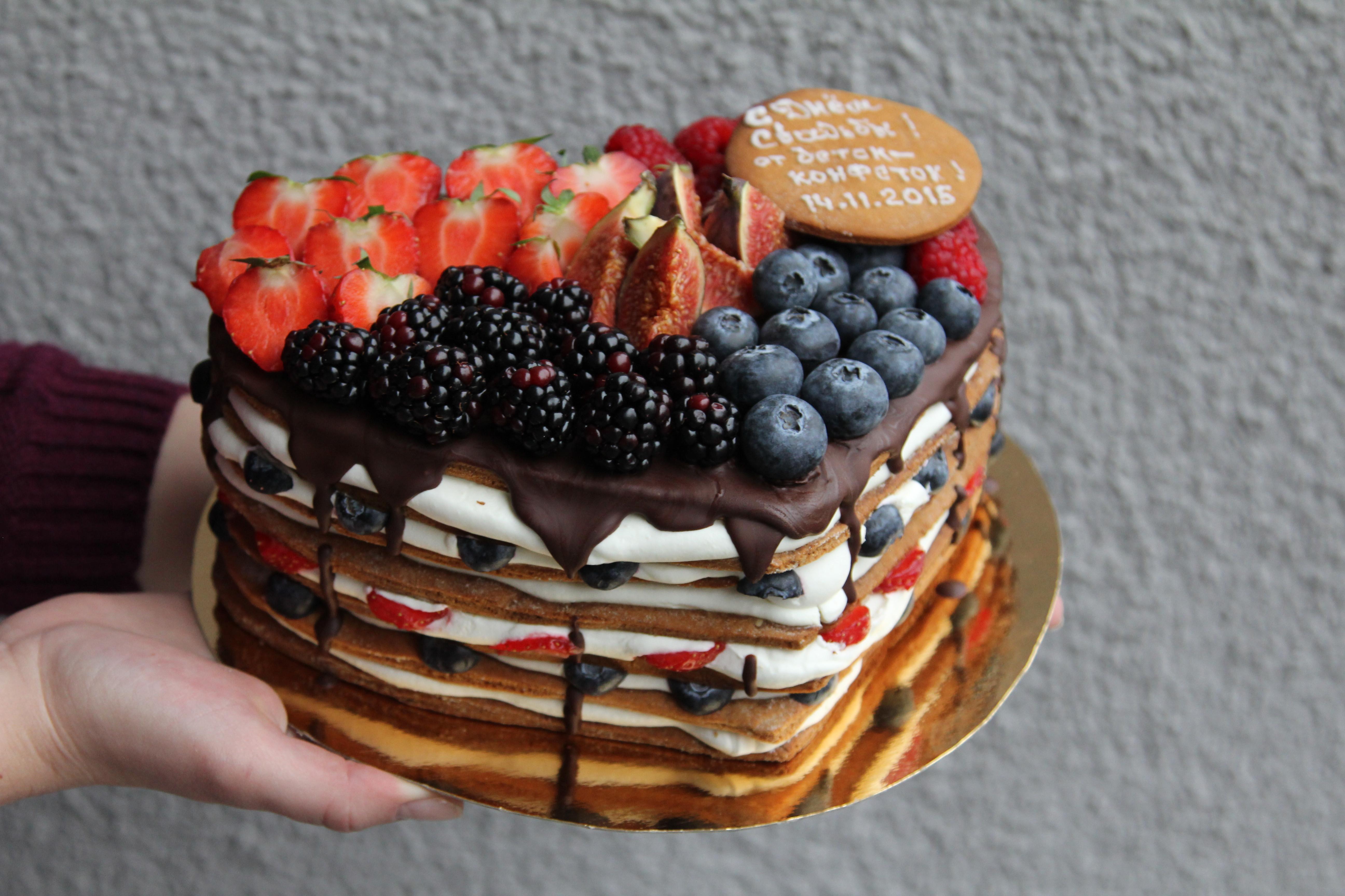 Торт с ягодами - 155 рецептов приготовления пошагово - 1000 43