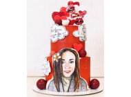 Торт в стиле pin-up c ВАШИМ портретом