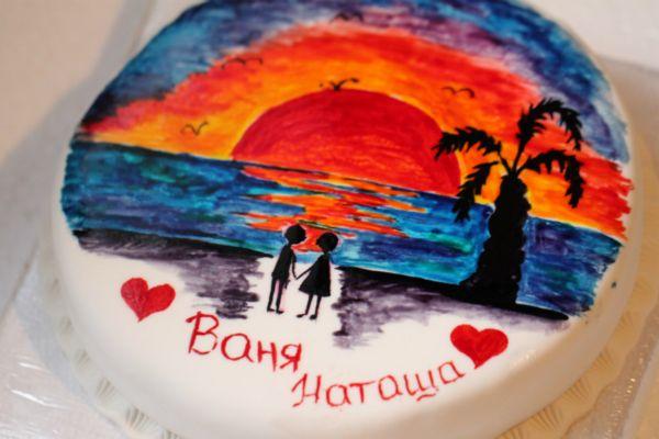 романтичный торт