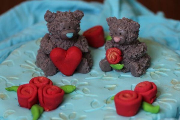сладкие мишки тедди из марципана