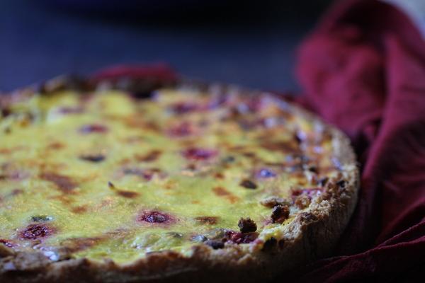 пирог вегетерианский с фруктами и ягодами