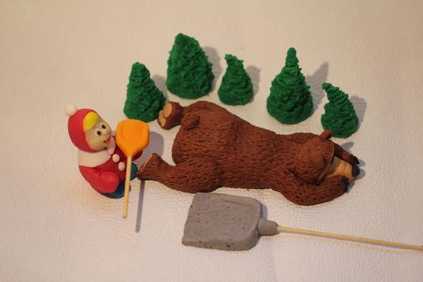 маша и медвель фигурки из мастики