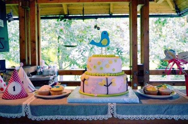 детский торт стильный