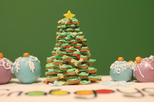 имбирное печенье елочка из печенья украшение на торт