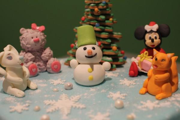 детский новогодний торт