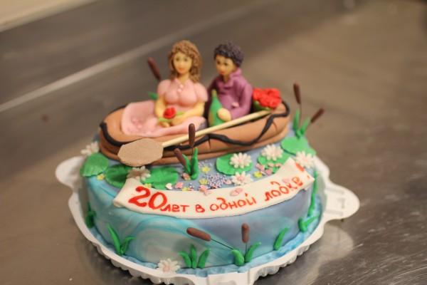 торт на свадьбу двадцать 20 лет