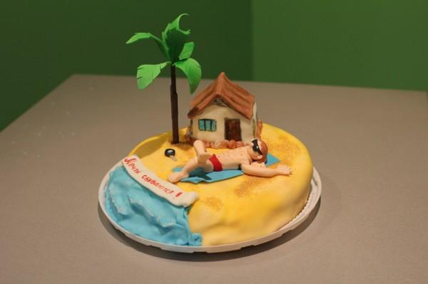 мечта торт для мужчины торт с домиком на берегу моря и ключами от бмв