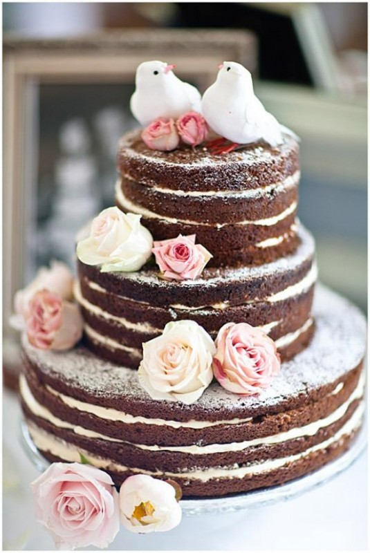 голый торт модный тренд свадьба 2014