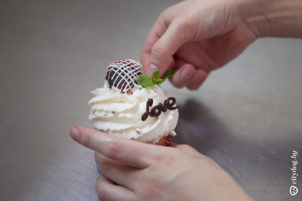 капкейк красивый вкусный миндаль