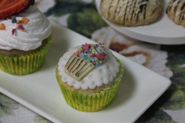 капкейк сахарной пастой