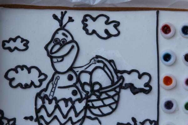 пряник олаф сидит в яйце пряникраскраска