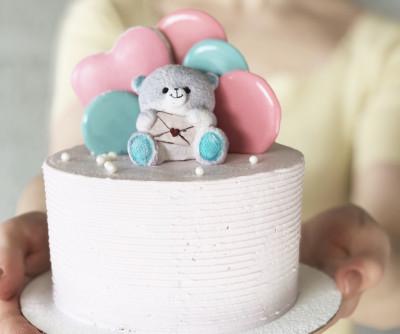 Мини тортик с Мишкой