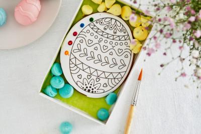 Большое яйцо раскраска