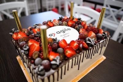 """Корпоративный торт """"Oxagile"""" для IT-компании"""