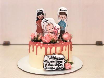 Нежный торт на двойную годовщину