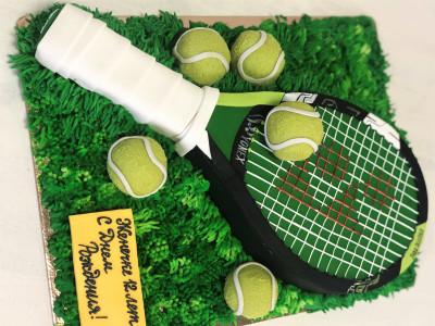 """Торт """"Теннисная ракетка"""""""