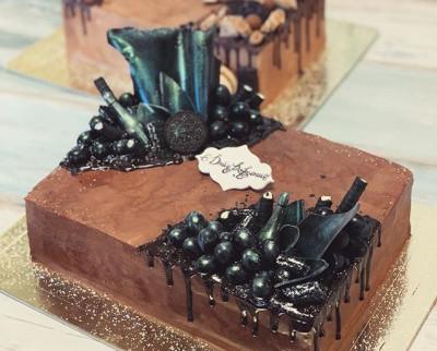 Темный торт