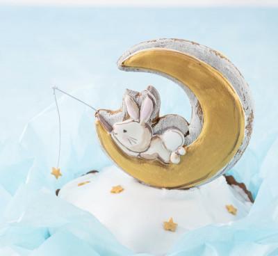 Кулич с зайчиком (Зайчик на луне)