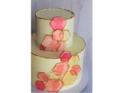 Торт с розовым стеклом