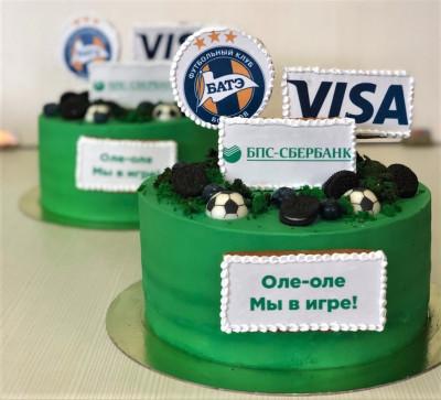 "Корпоративный торт для ""Visa""."