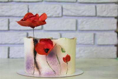 """Торт """"Красные Маки"""""""