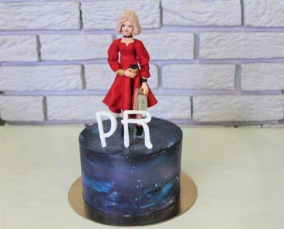 """Торт """"Девушка в красном"""""""