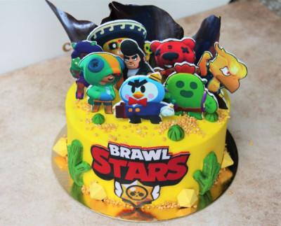 """Торт в стиле """"Brawl Stars"""""""