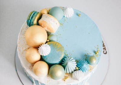 Торт Классика Голубой