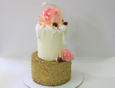 Свадебный торт с итальянской меренгой