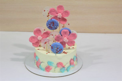 "Торт ""Розовые ромашки"""