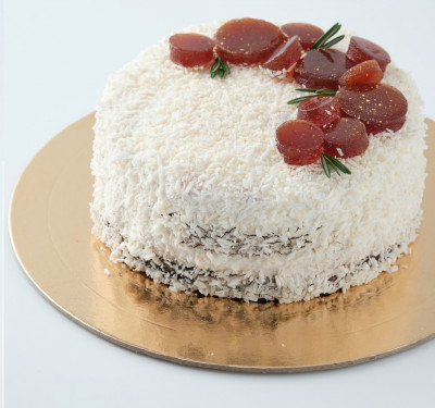 Веганский тортик кокос-вишня
