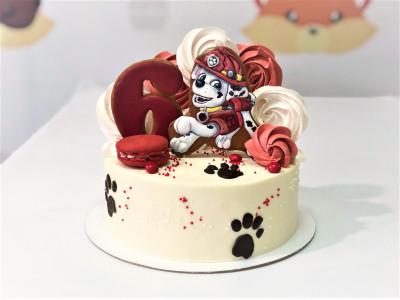 Торт в стиле Щенячий Патруль