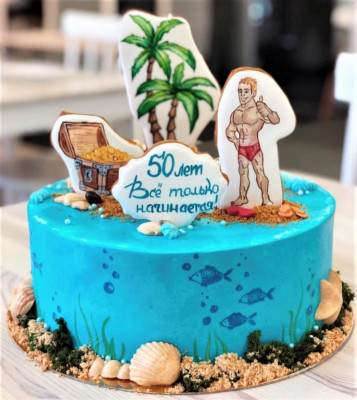 Торт мужчине на юбилей