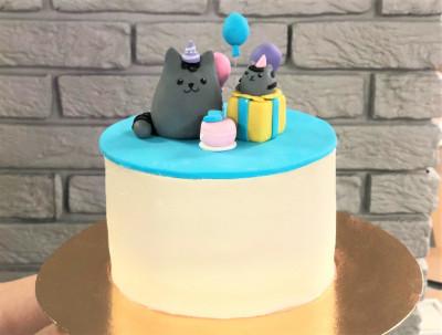 Торт с котиками Пушин