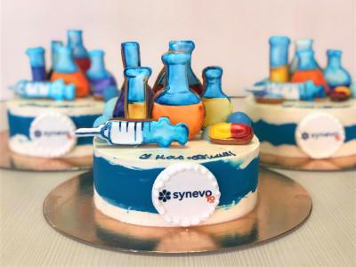 """Коропративный торт """"Synevo"""""""