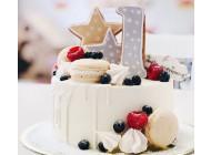 Белый торт на годик