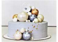 Стильный торт с шарами