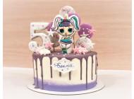 Торт с куколкой Лол